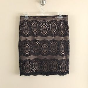 {Cache} Black Lace Skirt